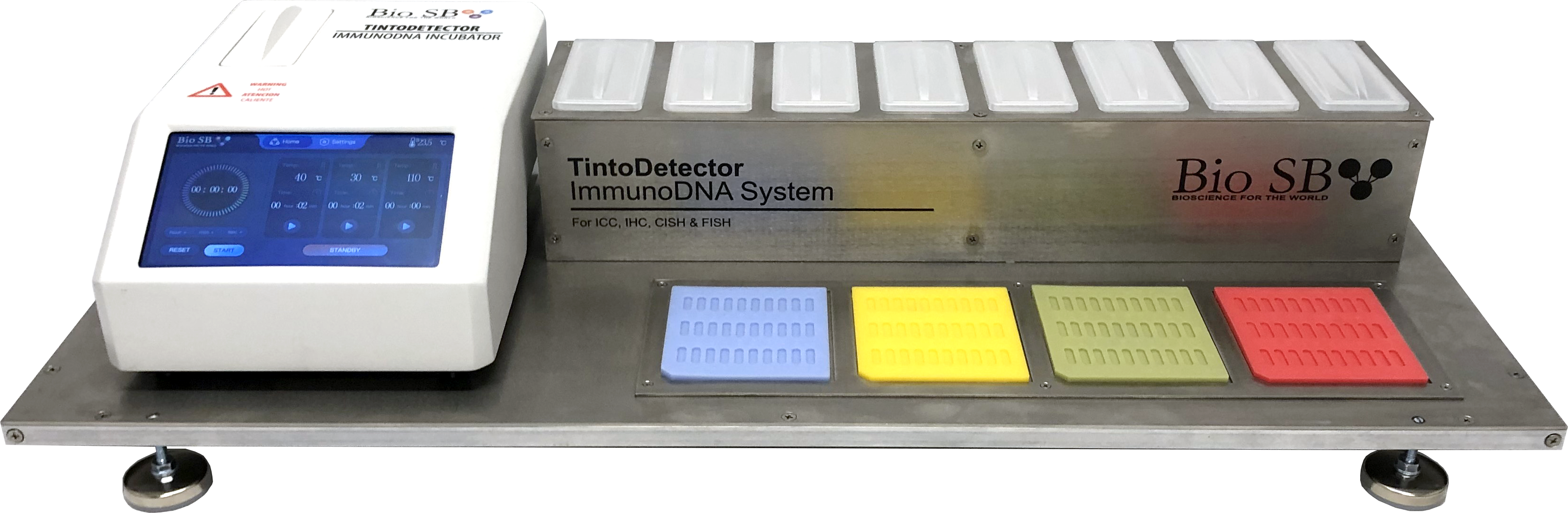 TintoDetector ImmunoDNA system compact molecular pathology manual staining Immunohistochemistry (IHC), Immunocytochemistry (ICC), Immunofluorescence (IF) and In-situ Hybridization (ISH)
